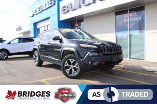 Used 2016 Jeep Cherokee Trailhawk**Moonroof | Heated Seats/Steering | NAV | AS TRADED SPECIAL** for sale in North Battleford, SK