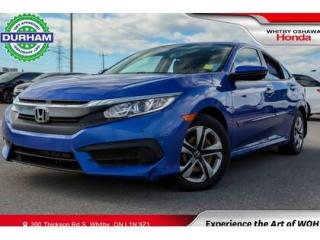 Used 2016 Honda Civic LX Backup Camera Apple Carplay/Android Auto for sale in Whitby, ON