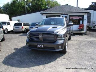 Used 2016 Dodge Ram 1500 LOADED SPORT-EDITION 5 PASSENGER 5.7L - HEMI.. 4X4.. CREW-CAB.. SHORTY.. NAVIGATION.. LEATHER.. HEATED SEATS.. BACK-UP CAMERA.. BLUETOOTH SYSTEM.. for sale in Bradford, ON