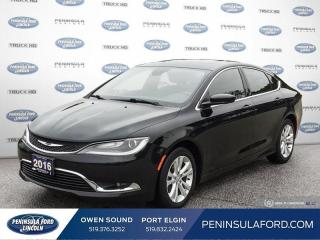 Used 2016 Chrysler 200 Limited - UConnect -  Power Seat - $88 B/W for sale in Port Elgin, ON