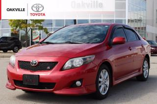Used 2009 Toyota Corolla S with Leather Seats and Clean Carfax | SELF CERTIFY for sale in Oakville, ON