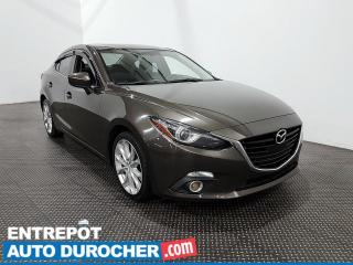 Used 2015 Mazda MAZDA3 GT Cuir - Toit ouvrant - Navigation - Climatiseur for sale in Laval, QC