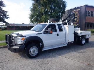 Used 2015 Ford F-550 Service Truck  Dually  4WD With Hiab Crane And Fifth Wheel Trailer Hitch for sale in Burnaby, BC