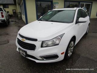 Used 2016 Chevrolet Cruze GAS SAVING LT-MODEL 5 PASSENGER 1.4L - TURBO.. TOUCH SCREEN DISPLAY.. POWER SUNROOF.. BACK-UP CAMERA.. CD/AUX/USB INPUT.. KEYLESS ENTRY.. for sale in Bradford, ON