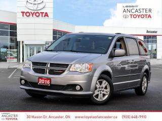 Used 2016 Dodge Grand Caravan Crew CREW | LEATHER SEATS | LOW KMS for sale in Ancaster, ON