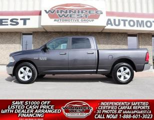 Used 2017 RAM 1500 SLT CREW 5.7L HEMI 4X4, LOCAL TRADE, CLEAN HISTORY for sale in Headingley, MB