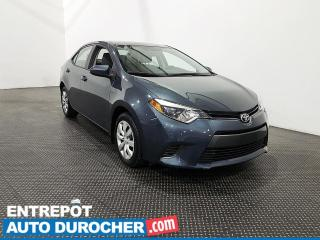 Used 2016 Toyota Corolla LE Sièges chauffants - Climatiseur for sale in Laval, QC