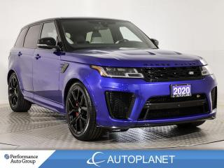 Used 2020 Land Rover Range Rover Sport SVR AWD, Supercharged, Heads Up Display, 575 HP! for sale in Brampton, ON