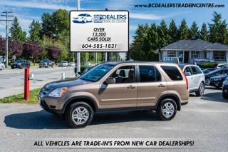 Used 2003 Honda CR-V 4WD EX-L Auto w/Leather, Local, No Accidents, Sunroof, Load! for sale in Surrey, BC