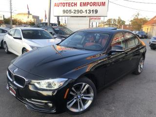 Used 2017 BMW 3 Series 320XI AWD Navi/Camera/Red Interior*$249/biwkly for sale in Mississauga, ON