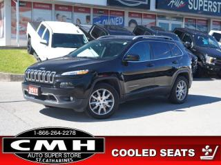 Used 2017 Jeep Cherokee Limited  V6 PANO LEATH PWR-SEAT MEM P/GATE COOLED-SEATS for sale in St. Catharines, ON