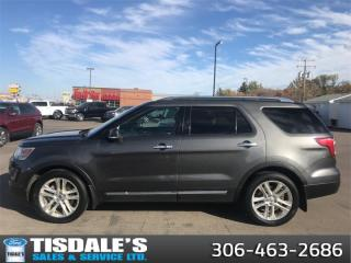 Used 2016 Ford Explorer Limited  - Leather seats -  Navigation for sale in Kindersley, SK