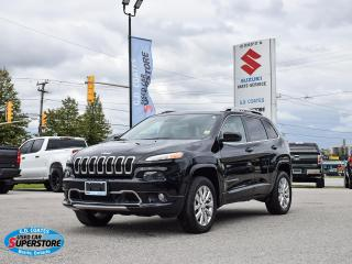 Used 2018 Jeep Cherokee Overland 4x4 ~3.2 V6 ~Nav ~Cam ~Leather ~Pano Roof for sale in Barrie, ON