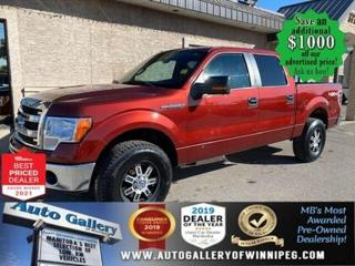 Used 2014 Ford F-150 XLT* 4WD/Crew/Remote Starter/SXM/Reverse Camera for sale in Winnipeg, MB