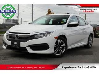 Used 2017 Honda Civic LX Manual Backup Camera Apple Carplay/Android Auto for sale in Whitby, ON
