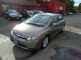 Used 2007 Honda Civic LX/ LOW KM / NO ACCIDENT / A/C / 5SPD / SUPER MINT for sale in Scarborough, ON