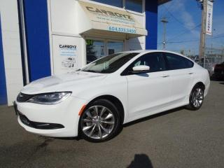 Used 2015 Chrysler 200 S, Leather, Htd Seats, Bluetooth, Only 52,645 Kms! for sale in Langley, BC
