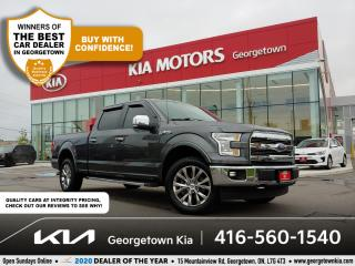 Used 2017 Ford F-150 Lariat 5L V8 | 77K | PANO ROOF | LEATHR | NAV | BT for sale in Georgetown, ON