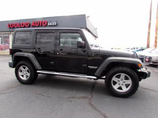 Used 2012 Jeep Wrangler Unlimited Rubicon 4WD Navigation Leather Certified for sale in Milton, ON