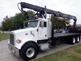 Used 2006 PETERBILT 357 Flat Deck with Crane Diesel Air Brakes for sale in Burnaby, BC