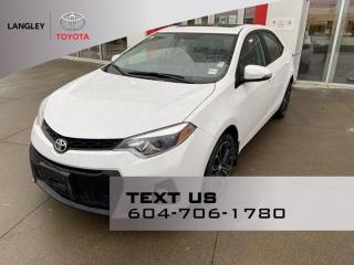 Used 2015 Toyota Corolla S Super Low Mileage! for sale in Langley, BC