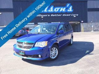 Used 2019 Dodge Grand Caravan SXT Premium Plus, DVD, Navigation System, Leatherette + Suede, Power Seat & Much More! for sale in Guelph, ON