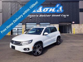 Used 2017 Volkswagen Tiguan Highline, R-Line Package, Sunroof, Brown Leather, Dual Climate Control & Much More! for sale in Guelph, ON