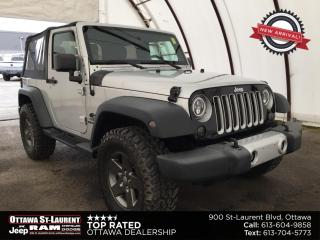 Used 2012 Jeep Wrangler Sport EXTRA LOW KM'S, SOFT TOP, UPGRADED FIRESTONE TIRES, SIDE STEPS for sale in Ottawa, ON