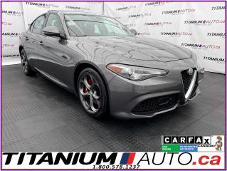 Used 2018 Alfa Romeo Giulia 2.99% Financing - Ti Sport+Apple Play+GPS+Radar Cr for sale in London, ON