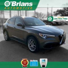 Used 2018 Alfa Romeo Stelvio Ti Sport - Accident Free! w/AWD, Backup Camera, Leather, Cruise for sale in Saskatoon, SK
