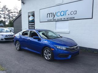 Used 2017 Honda Civic LX BACKUP CAM. HEATED SEATS. A/C. BLUETOOTH. for sale in Kingston, ON