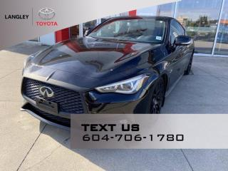Used 2017 Infiniti Q60 3.0t Red Sport 400 No Accident, Low kms for sale in Langley, BC