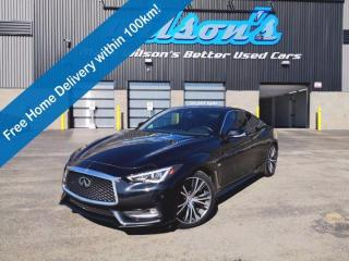 Used 2017 Infiniti Q60 3.0t Coupe, AWD, Leather, Sunroof, Navigation, Blindspot Monitor, Lane Departure & Much More! for sale in Guelph, ON