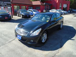 Used 2012 Infiniti G25 G25X / AWD / REAR CAM / ALLOYS / SUNROOF / MINT for sale in Scarborough, ON