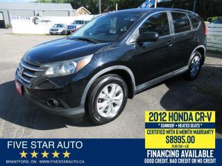 Used 2012 Honda CR-V EX - Certified w/ 6 Month Warranty for sale in Brantford, ON