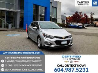Used 2018 Chevrolet Cruze LT Manual BLUETOOTH - SPOILER - REAR VIEW CAMERA for sale in North Vancouver, BC