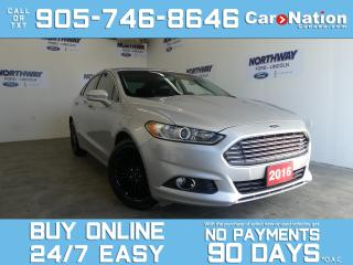 Used 2016 Ford Fusion SE LUXURY  LEATHER  NEW CAR TRADE   TECH PKG for sale in Brantford, ON