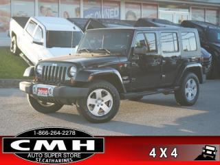 Used 2010 Jeep Wrangler Unlimited Sahara  MANUAL PWR-GROUP A/C 18-AL for sale in St. Catharines, ON