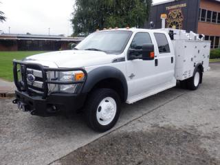 Used 2011 Ford F-550 Crew Cab 4WD Service Box With Winch Diesel for sale in Burnaby, BC