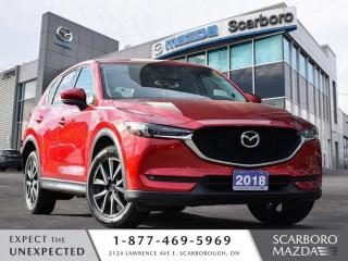 Used 2018 Mazda CX-5 GT AWD SUNROOF LEATHER 1 OWNER CLEAN CARFAX for sale in Scarborough, ON