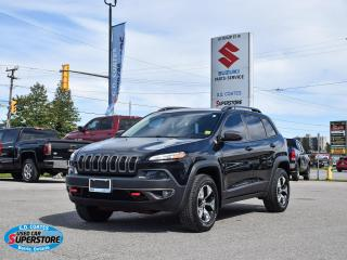 Used 2016 Jeep Cherokee Trailhawk 4x4 ~Nav ~Cam ~Pano Roof ~Heated Leather for sale in Barrie, ON