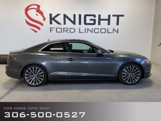 Used 2018 Audi A5 Coupe Technik for sale in Moose Jaw, SK