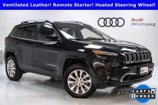Used 2016 Jeep Cherokee Overland w/Sunroof & Technology Package *Local Trade* for sale in Winnipeg, MB