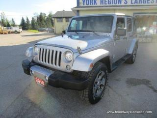 Used 2018 Jeep Wrangler FUN TO DRIVE SAHARA-UNLIMITED-EDITION 5 PASSENGER 3.6L - V6.. TRAIL-RATED-4X4.. REMOVEABLE TOP.. NAVIGATION PACKAGE.. BLUETOOTH SYSTEM.. for sale in Bradford, ON