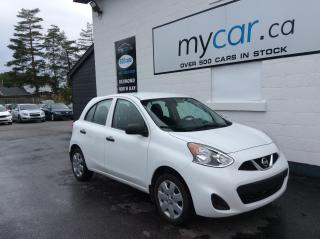 Used 2017 Nissan Micra S A/C. POWER GROUP. BLUETOOTH. for sale in Kingston, ON