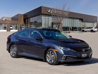 Used 2019 Honda Civic EX | Sunroof | Apple Carplay & Android Auto | for sale in Winnipeg, MB