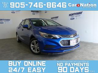 Used 2016 Chevrolet Cruze LT | SUNROOF | TOUCHSCREEN | FULLY REDESIGNED for sale in Brantford, ON