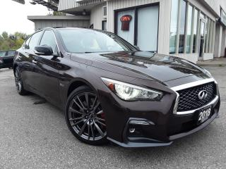 Used 2018 Infiniti Q50 Red Sport 400 AWD - LEATHER! NAV! 360 CAM! BSM! BOSE! for sale in Kitchener, ON