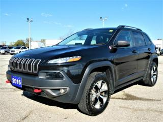 Used 2016 Jeep Cherokee Trailhawk 3.2L | Panoramic Roof | Heated Seats | Remote Start for sale in Essex, ON