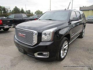 Used 2017 GMC Yukon XL LOADED DENALI-MODEL 7 PASSENGER 6.2L - V8.. 4X4.. CAPTAINS.. THIRD ROW.. NAVIGATION.. LEATHER.. HEATED/AC SEATS.. DUAL DVD PLAYER.. POWER SUNROOF.. for sale in Bradford, ON